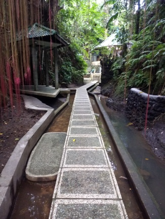 Pathway to yoga class (and nirvana?)