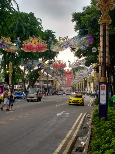 Colorful streets in Singapore