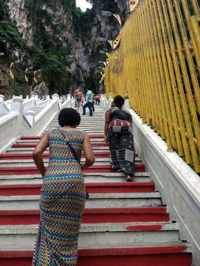 Long way up to Batu Caves