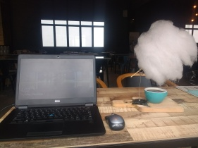 Working from Lepaq Lepaq, with its famous rainy day coffee