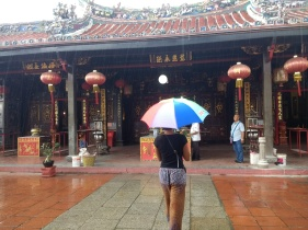 Angela exploring Chinese temples in Malacca