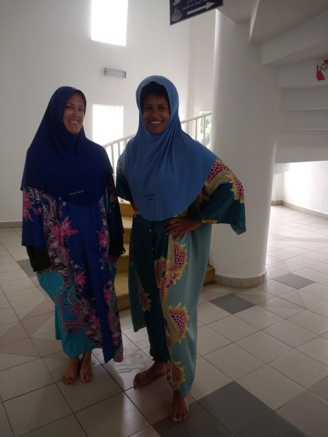 Diane and Angela at the floating mosque