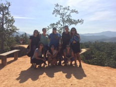 Bus crew in front of Pai Canyon