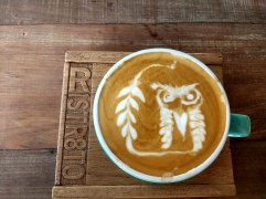 Amazing latte art at award-winning Ristr8to