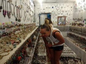 Zoe shopping at the coolest jewelry store