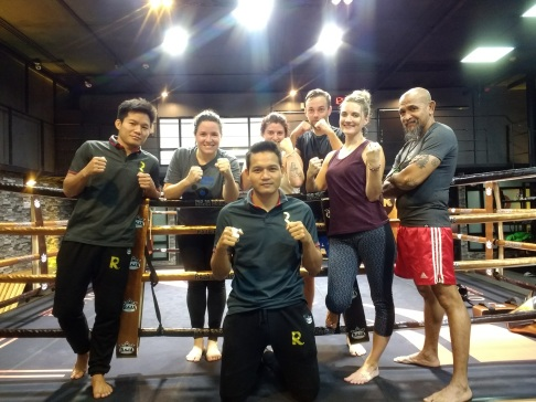Muay Thai class with our instructors
