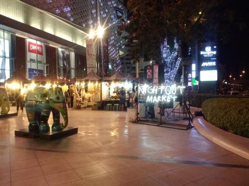 Night market shopping for Secret Santa gifts