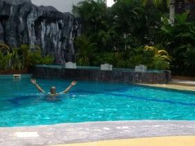 Sean swimming!
