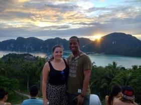 Sean and I at Phi Phi Viewpoint