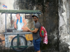 Phuket street art & hungry Sean