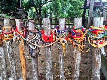 Bracelets commemorating victims at the Killing Fields