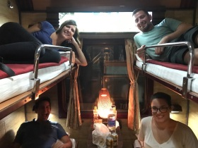 Overnight train to Sapa with Arestia, Max and Chino