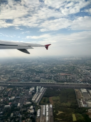 Flying over Phnom Penh