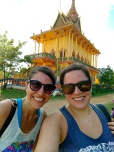 Thayer and I in front of a pagoda