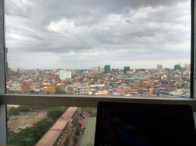 Our new workspace with views over Phnom Penh