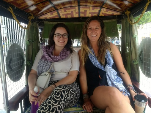 Casey and I in a tuk-tuk