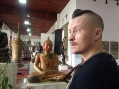Travis and a Buddha