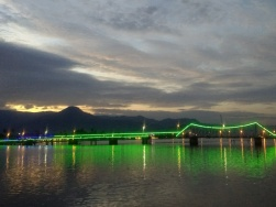 Kampot Bridge by night