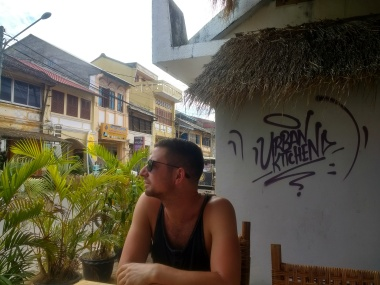 Max looking out over Kampot