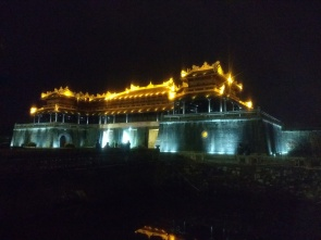Hue citadel by night