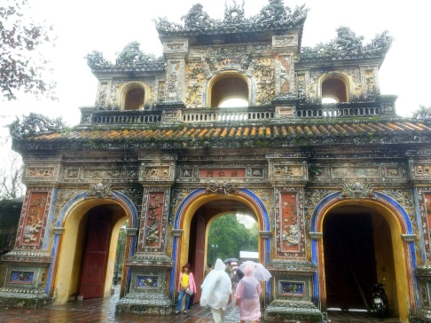 Beautiful exit at Hue citadel