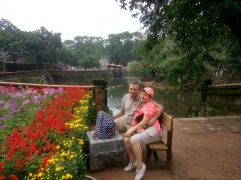 At Tu Duc tomb, mom and dad