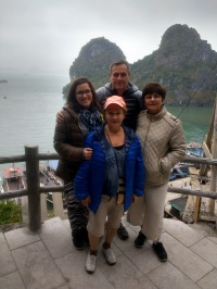 Cloudy Halong Bay