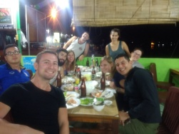 Family-style dinner at Fisherman Village - Max, Charles, Jeff, Arestia, Trav, Sam, me, Liz and Chino