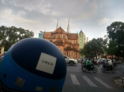Uber moto'ing around Saigon